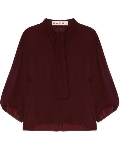 Блузка с пышными рукавами из вискозы Marni