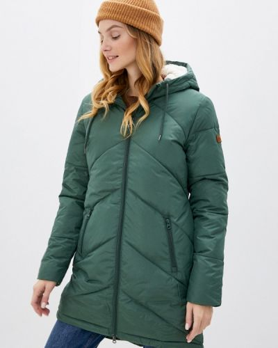 Зеленая теплая куртка Roxy