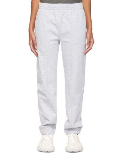 Białe spodnie bawełniane Helmut Lang