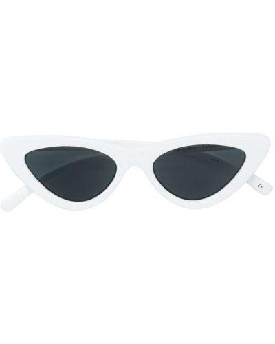 Белые солнцезащитные очки Le Specs