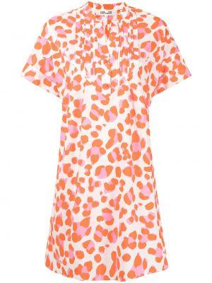 Оранжевое платье мини короткое Dvf Diane Von Furstenberg