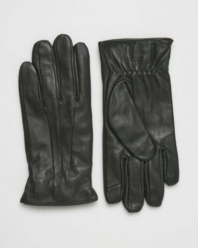 Коричневые кожаные перчатки Jack & Jones