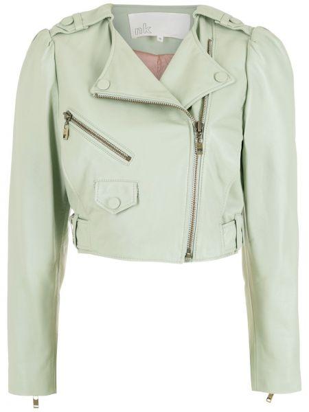 Зеленая куртка длинная Nk