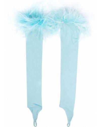 Niebieskie rękawiczki bez palców Styland