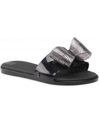 Czarne sandały casual Zaxy