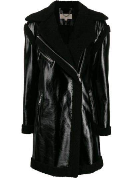 Черное длинное пальто с воротником Michael Michael Kors