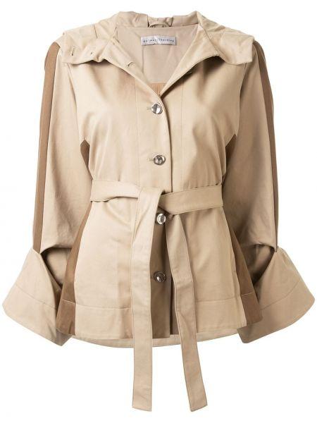 Хлопковая с рукавами куртка с капюшоном мятная на пуговицах Palmer / Harding