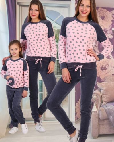 Костюм велюровый розовый инсантрик