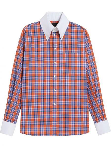 С рукавами рубашка в клетку с воротником Marc Jacobs