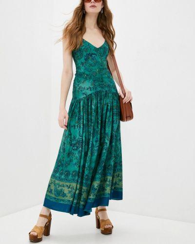 Зеленое итальянское платье Seventy