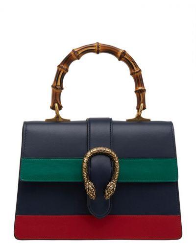 Кожаный сумка с ручками бамбуковая Gucci