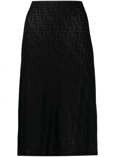 Юбка с завышенной талией прозрачная Fendi Pre-owned