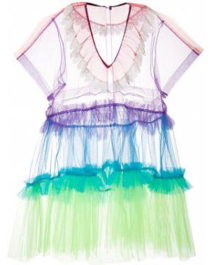 Платье миди с короткими рукавами Facetasm
