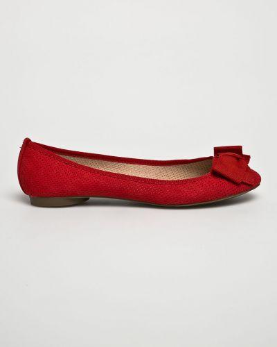 Красные балетки резиновые Corina