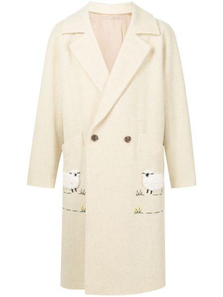 Długi płaszcz wełniany Doublet
