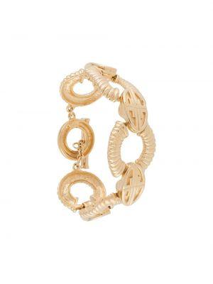 Золотистый желтый браслет металлический позолоченный Givenchy Pre-owned