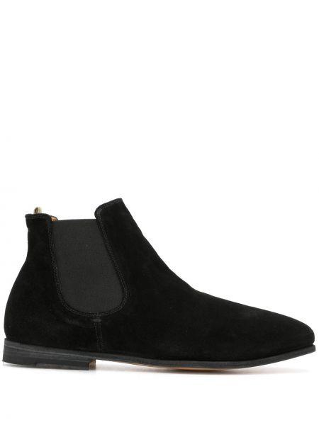 Zamsz czarny buty okrągły okrągły nos Officine Creative