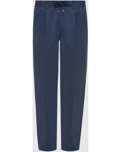 Шерстяные брюки - синие Enrico Mandelli