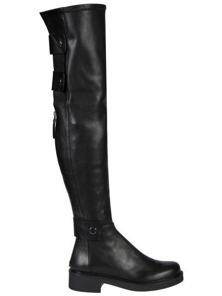 Кожаные ботфорты - черные Sofia Baldi