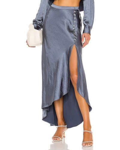 Повседневная шерстяная синяя юбка Lpa