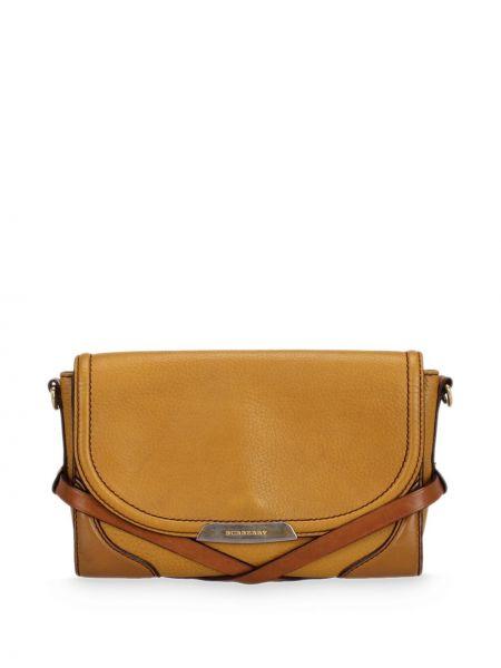 Коричневая сумка через плечо из натуральной кожи Burberry Pre-owned