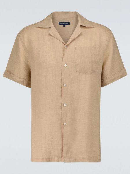 Beżowa lniana koszula Frescobol Carioca