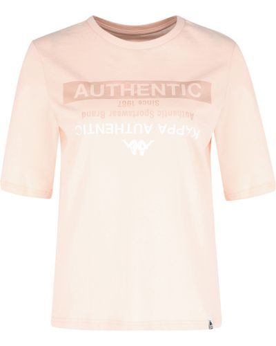 Розовая футболка Kappa