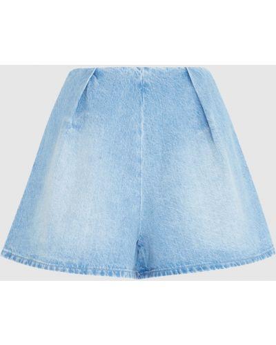 Хлопковые джинсовые шорты свободного кроя Edit