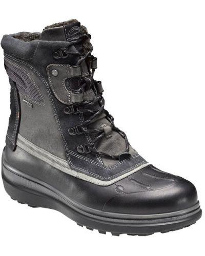 Зимние ботинки на шнуровке кожаные Ecco