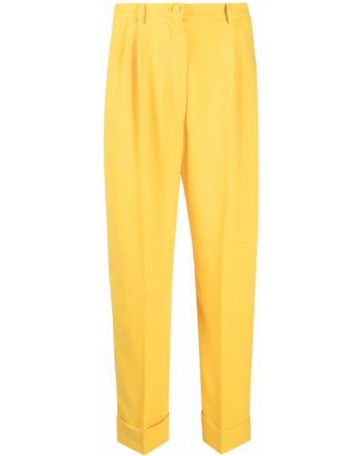 Z wysokim stanem kostium żółty spodni garnitur Hebe Studio