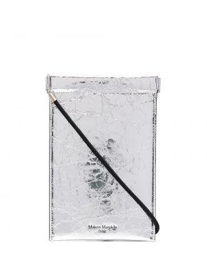 Хлопковый серебряный сумка на плечо Maison Margiela