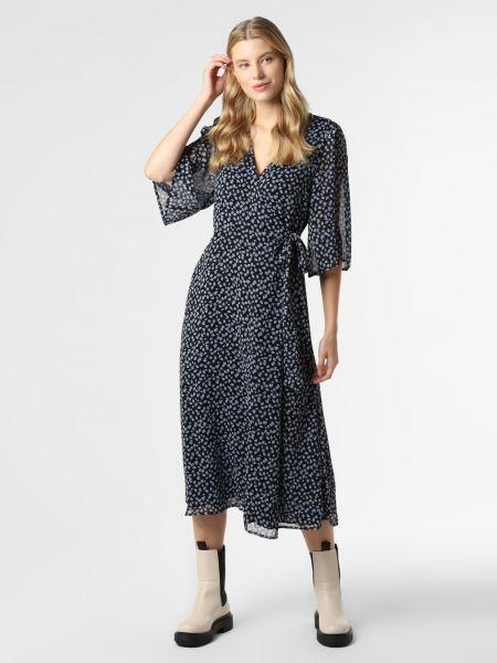 Niebieska sukienka z printem Mbym