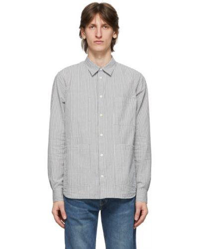 Biała koszula bawełniana z długimi rękawami Norse Projects
