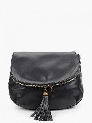 Черная кожаная сумка через плечо Roberta Rossi