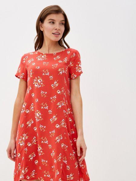 Платье коралловый прямое Defacto
