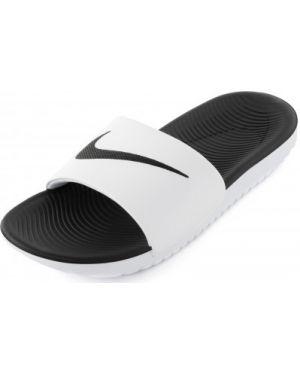С ремешком белые текстильные спортивные шлепанцы Nike