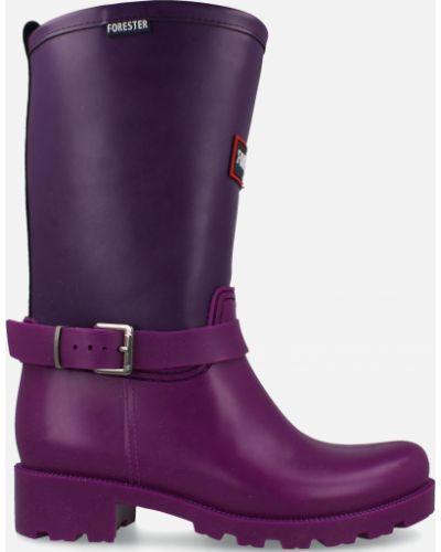 Деловые резиновые сапоги - фиолетовые Forester