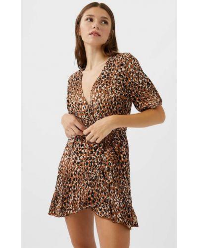 Купальник-платье короткое платье из верблюжьей шерсти Stradivarius