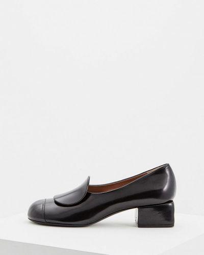 Кожаные туфли осенние для офиса Marni