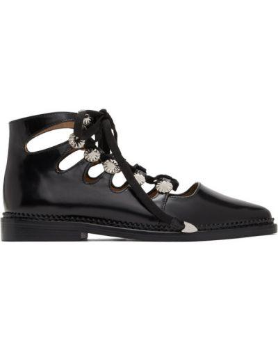 Кожаные черные оксфорды на каблуке Toga Pulla