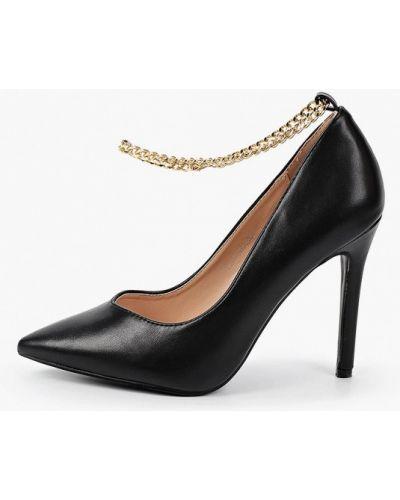 Черные кожаные туфли Tulipano