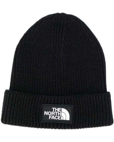 Шапка бини в рубчик - черная The North Face