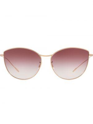 Солнцезащитные очки металлические - желтые Oliver Peoples