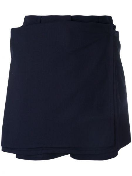 Шерстяная синяя юбка винтажная Jean Paul Gaultier Pre-owned