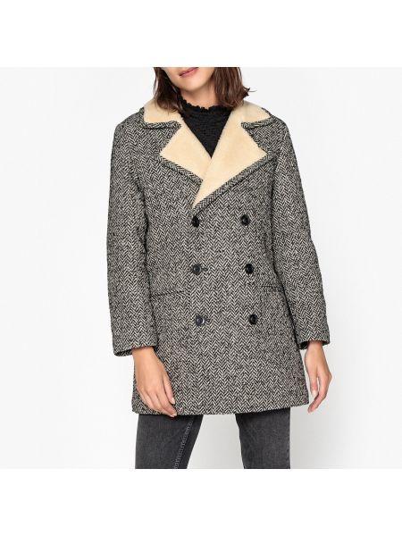 Пальто из альпаки - черное Soeur