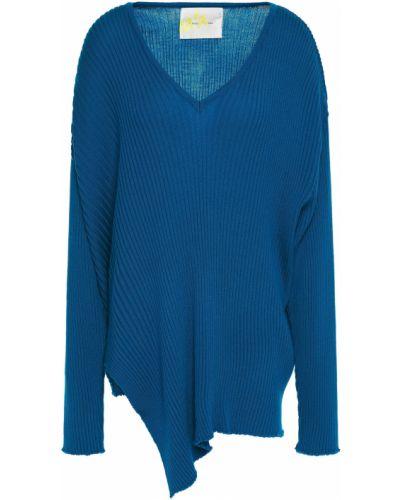 Prążkowany sweter wełniany asymetryczny Marques Almeida