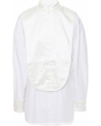 Satynowa biała koszula - biała Tibi