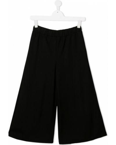 Брючные черные брюки свободного кроя Mariuccia Milano Kids