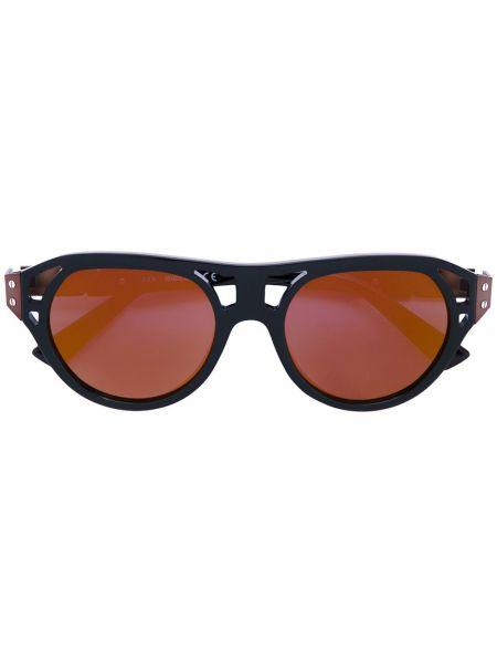 Муслиновые черные солнцезащитные очки Diesel