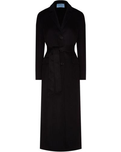 Длинное пальто из ангоры пальто-халат Prada